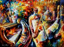 "BOTTLE  JAZZ  72""x48"" (180cm x 120cm)"