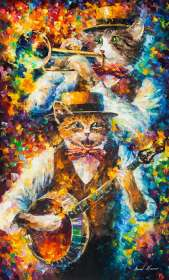 Banjo Music of Cats - LIMITED EDITION GICLEE