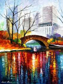 "CENTRAL PARK BRIDGE - NEW YORK 40""x72"" (100cm x 180cm)"