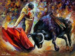 CORRIDA WITH DANGEROUS OPPONENT - GICLEE