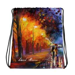 All-Over Print Drawstring Bag - Alley by the lake 2