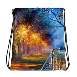 All-Over Print Drawstring Bag - Alley by the lake