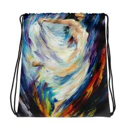 All-Over Print Drawstring Bag - Angel of love