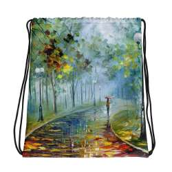 All-Over Print Drawstring Bag - The fog of passion