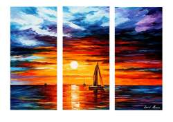 EVENING TOUCH OF HORIZON - SET OF 3