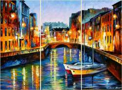 EVENING RIVER ST. PETERSBURG - SET OF 3