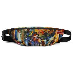 All-Over Print Fanny Pack - Cafe in the old city