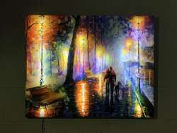 MELODY OF THE NIGHT - Canvas Print With Led Lights Gallery Wrapped And Ready To Hang