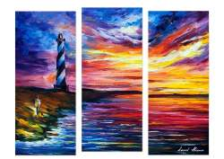 LIGHTHOUSE AND WIND - SET OF 3