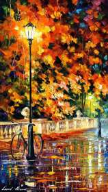 "LONELY BICYCLE IN THE PARK 40""x 60"" (100cm x 150cm)"