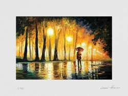 Bewitched Park - Limited Edition Print On Watercolor Paper Signed by Leonid Afremov