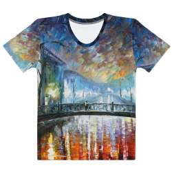 MISTY BRIDGE  ST. PETERSBURG   - All-Over Print  Women's Crew Neck-  T-shirt - All sizes