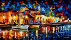 NIGHT RIVERFRONT - LIMITED EDITION GICLEE