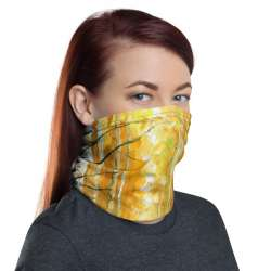 All-Over Print Neck Gaiter  - Autumn Birches