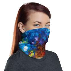 All-Over Print Neck Gaiter  - Blue Lights