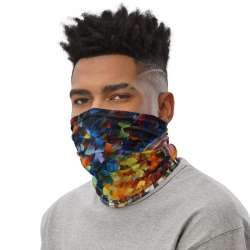 All-Over Print Neck Gaiter  - Cafe in the Old Street