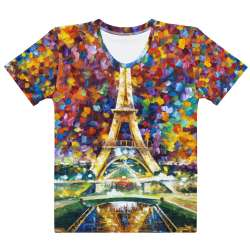 PARIS OF MY DREAMS  - All-Over Print  Women's Crew Neck-  T-shirt - All sizes