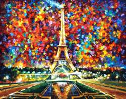 "PARIS OF MY DREAMS - 48""X36""  (120cm x 90cm)"