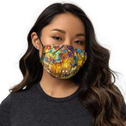 All-Over Print Premium Face Mask - Colorful Night