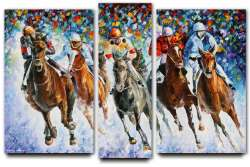 RACE ON THE SNOW — SET OF 3