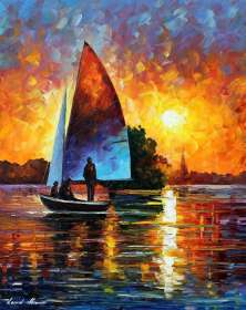 SUMMER SUNSET BY THE LAKE - LIMITED EDITION GICLEE