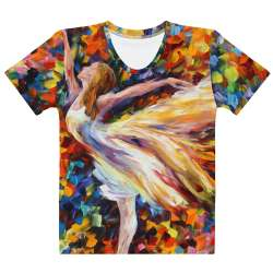 THE BEAUTY OF DANCE  - All-Over Print  Women's Crew Neck-  T-shirt - All sizes