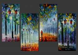 THE COLORS OF THE WINTER PARK - SET OF 4