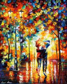 COUPLE UNDER ONE UMBRELLA *