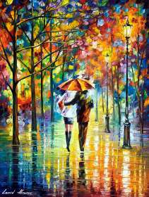 COUPLE UNDER THE RED UMBRELLA