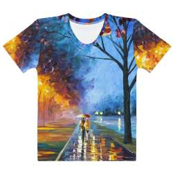 ALLEY BY THE LAKE  - All-Over Print  Women's Crew Neck-  T-shirt - All sizes