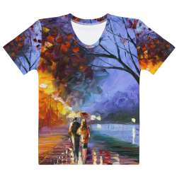 Alley by the lake2  - All-Over Print  Women's Crew Neck-  T-shirt - All sizes