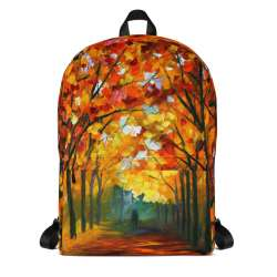 Backpack with print of the painting Farewell To Autumn