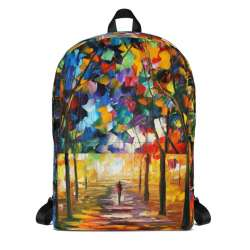 Backpack with print of the painting Forest Path