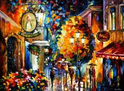 "ROMANTIC CAFE IN THE OLD CITY 72""x48"" (180cm x 120cm)"