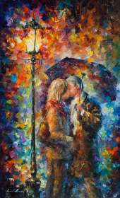 KISSING THROUGH THE RAIN