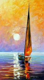 GOLD SAILBOAT