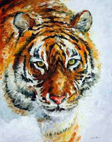 TIGER ON THE SNOW 1