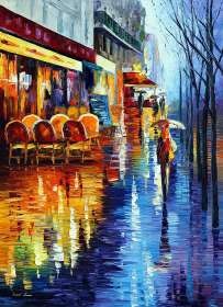 CAFE IN RAINY PARIS