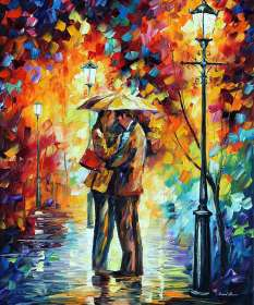 SWEET KISS UNDER THE RAIN