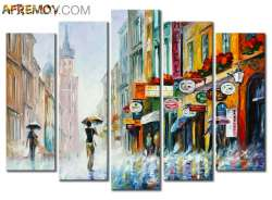 "DOWNPOUR - SET OF 5 30""x80"" Total Size (75cm x 200cm) 16""x30"" Each Aprox (40cm x 75cm)"