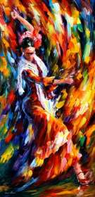 "FLAMENCO  DANCER 40""x72"" (100cm x 180cm)"