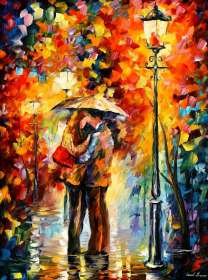 LOVELY KISS UNDER THE RAIN