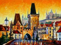 "PRAGUE - OLD CITY 48""x36"" (120cm x 90cm)"