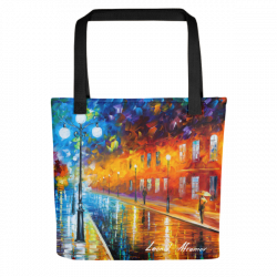 Blue Lights - Tote bag by Leonid Afremov