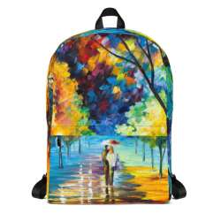 Backpack with print of the painting Night Alley