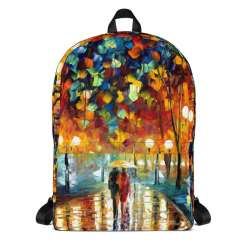 Backpack with print of the painting Rain's Rustle