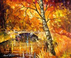 "STRONG BIRCH - Original Oil Painting On Canvas By Leonid Afremov - 24""X20"""