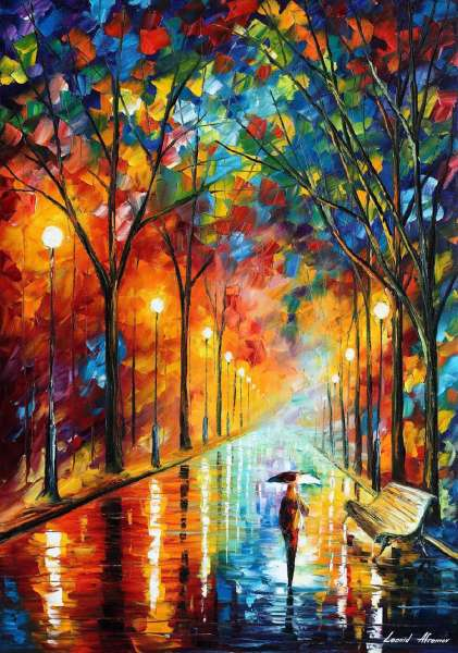 BEFORE THE CELEBRATION PALETTE KNIFE Oil Painting On