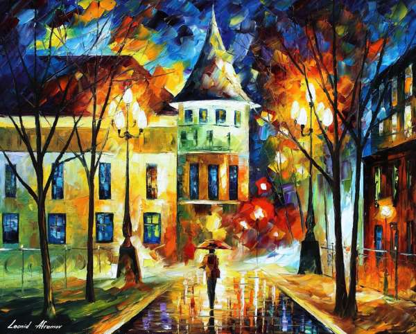 Leonid Afremov, oil on canvas, palette knife, buy original paintings, art, famous artist, biography, official page, online gallery, large artwork, impressionism, russia