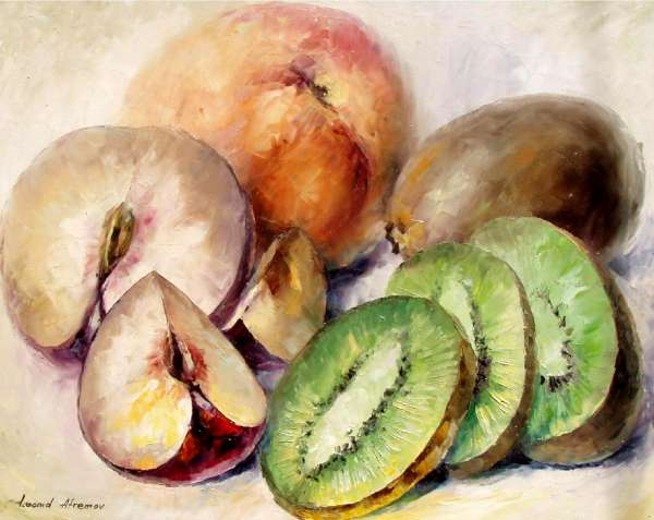 Fruits Oil Painting On Canvas